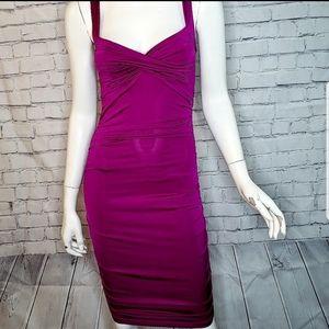 Charlotte Russe Magenta Bodycon Dress